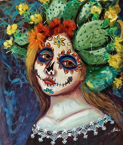 Her Cactus Headdress