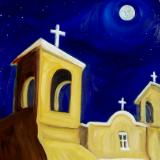 Rancho de Taos Mission Full Moon