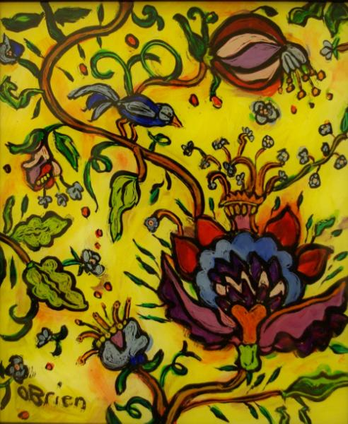Indienne Floral with Bird