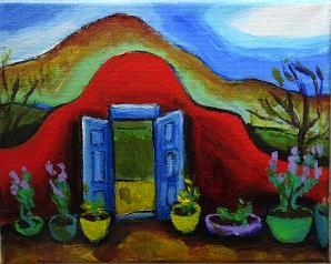 Santa Fe Blue Door