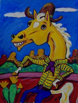The Happy Palomino Cowboy