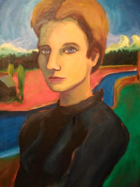 Contemporary narrative folk artist