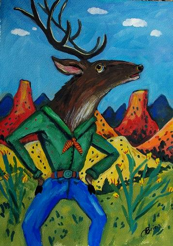Majestic Cowboy Elk