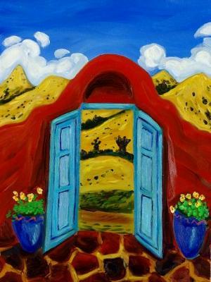 Through the Blue Door