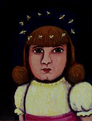 Girl with the Honey Bee Halo